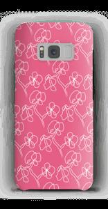 Blumen auf Rosa Handyhülle Galaxy S8