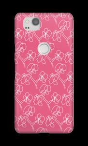 Blumen auf Rosa Handyhülle Pixel 2