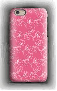 Fleurs abstraites Rose Coque  IPhone 6 tough