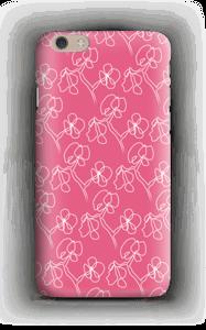 Vaaleanpunaiset kukat kuoret IPhone 6 Plus