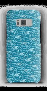 Blumen auf Blau Handyhülle Galaxy S8