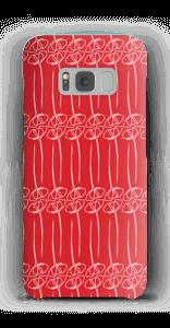 Punaiset kukat kuoret Galaxy S8