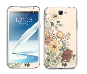 Vil blomsterbukett Skin Galaxy Note 2