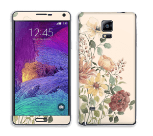 Vil blomsterbukett Skin Galaxy Note 4