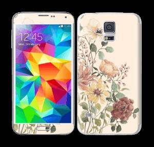 Vild buket med blomster Skin Galaxy S5