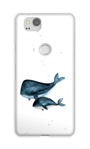 Due balene cover Pixel 2