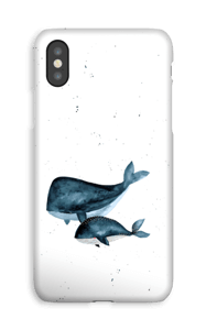 Due balene cover IPhone XS