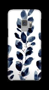 Blauwe bladeren hoesje Galaxy S9