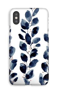 Foglie blu cover IPhone XS