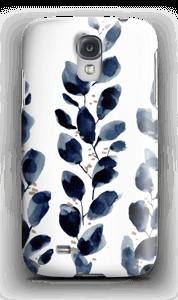 Blå løv deksel Galaxy S4