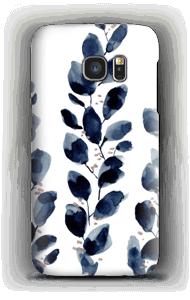 Blaue Blätter Handyhülle Galaxy S7