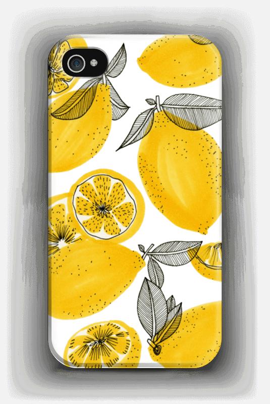 Keltaiset sitruunat kuoret IPhone 4/4s