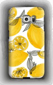 Keltaiset sitruunat kuoret Galaxy S6 Edge