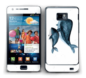 To hvaler i blått Skin Galaxy S2