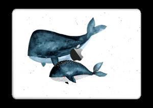 """Två valar i blått Skin MacBook Pro 13"""" 2016-"""