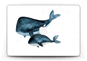 "To hvaler i blått Skin MacBook Pro Retina 13"" 2015"