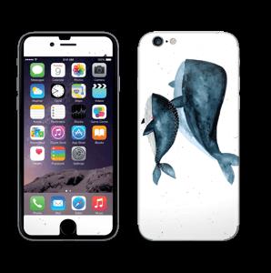 To hvaler i blått Skin IPhone 6/6s