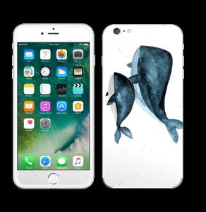 To hvaler i blått Skin IPhone 6 Plus