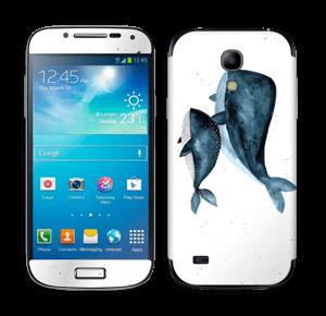 To hvaler i blått Skin Galaxy S4 Mini