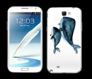To hvaler i blått Skin Galaxy Note 2