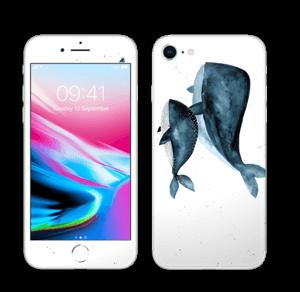 To hvaler i blått Skin IPhone 8