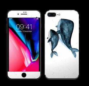 To hvaler i blått Skin IPhone 8 Plus