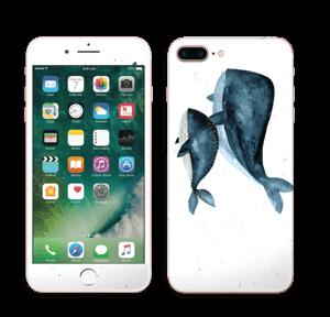 To hvaler i blått Skin IPhone 7 Plus