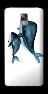 To hvaler i blått Skin OnePlus 3T