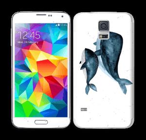 To hvaler i blått Skin Galaxy S5