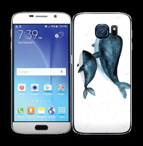 To hvaler i blått Skin Galaxy S6