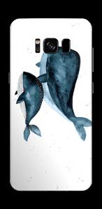 Dos ballenas en azul Vinilo  Galaxy S8