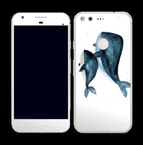 To hvaler i blått Skin Pixel