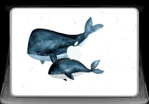 """To hvaler i blått Skin MacBook Pro 13"""" -2015"""