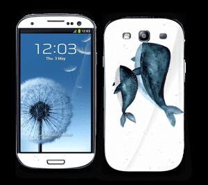 To hvaler i blått Skin Galaxy S3