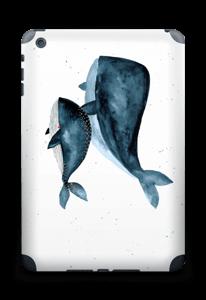 To hvaler i blått Skin IPad mini 2 back