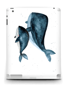 Two Whales  Skin IPad 4/3/2