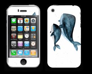 To hvaler i blått Skin IPhone 3G/3GS