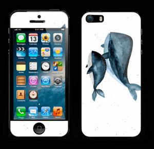 To hvaler i blått Skin IPhone 5s