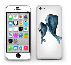 To hvaler i blått Skin IPhone 5c
