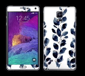 Blå løv Skin Galaxy Note 4