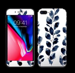 Blå løv Skin IPhone 8 Plus