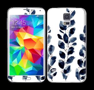 Blå blade Skin Galaxy S5