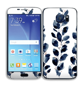 Blue leaf  Skin Galaxy S6
