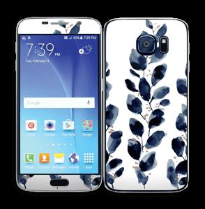 Blå blade Skin Galaxy S6