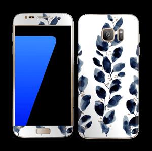 Blå blade Skin Galaxy S7