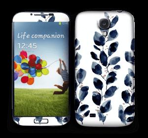 Blå løv Skin Galaxy S4