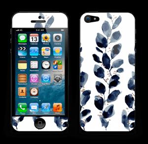 Blå løv Skin IPhone 5