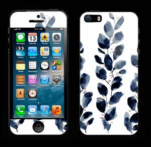Blå løv Skin IPhone 5s