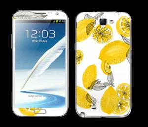 Gule sitroner Skin Galaxy Note 2
