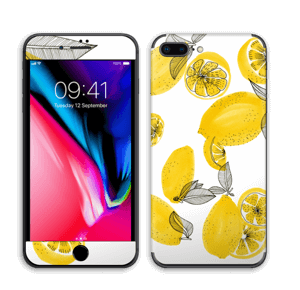 Gule sitroner Skin IPhone 8 Plus